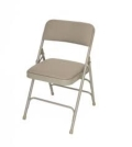 Rental store for FOLDING CHAIR - PADDED, BEIGE in Bellingham WA